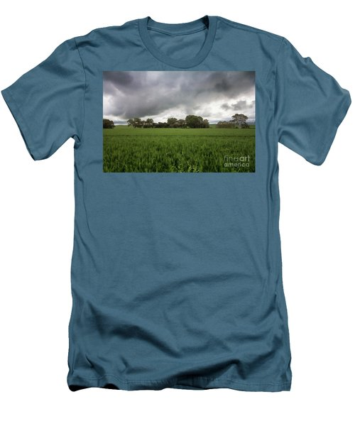 Green Fields 5 Men's T-Shirt (Slim Fit) by Douglas Barnard