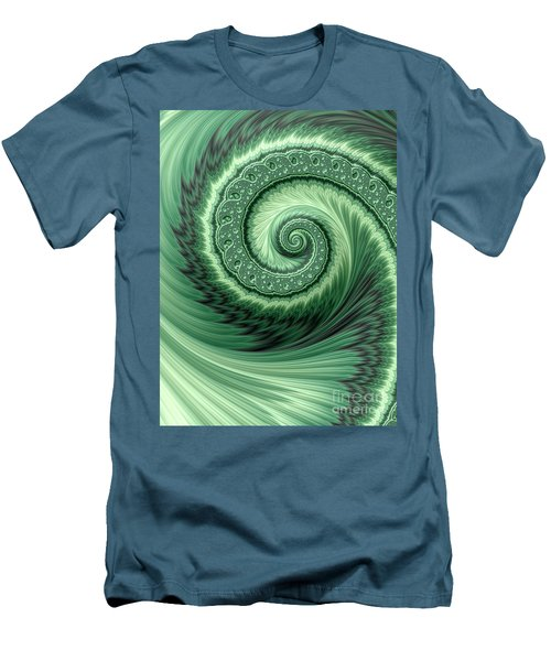 Green Shell Men's T-Shirt (Athletic Fit)