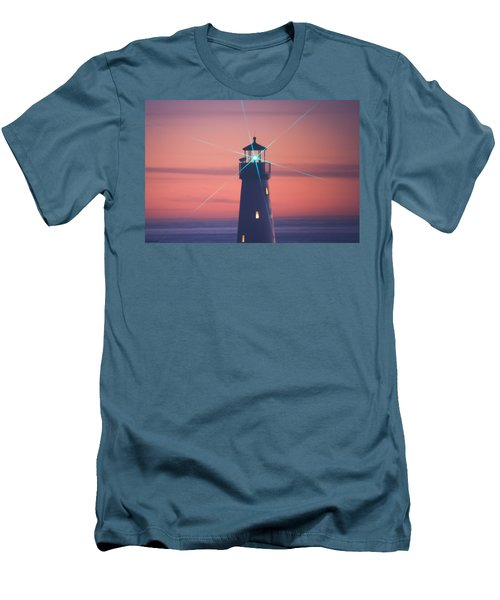 Men's T-Shirt (Athletic Fit) featuring the photograph Green Star by Lora Lee Chapman