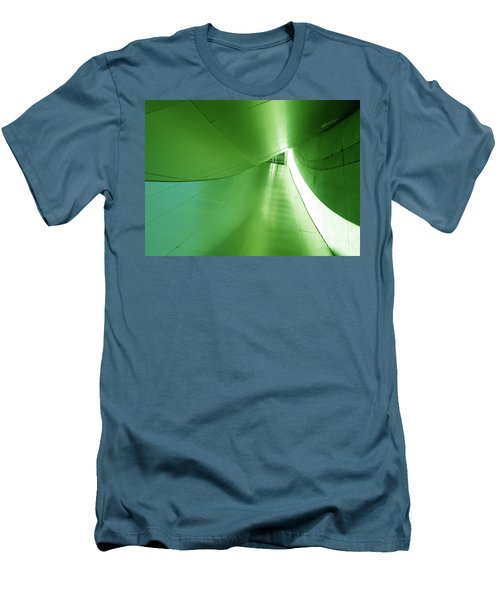 Men's T-Shirt (Athletic Fit) featuring the photograph Green Tunnel. Los Angeles Series. by Ausra Huntington nee Paulauskaite