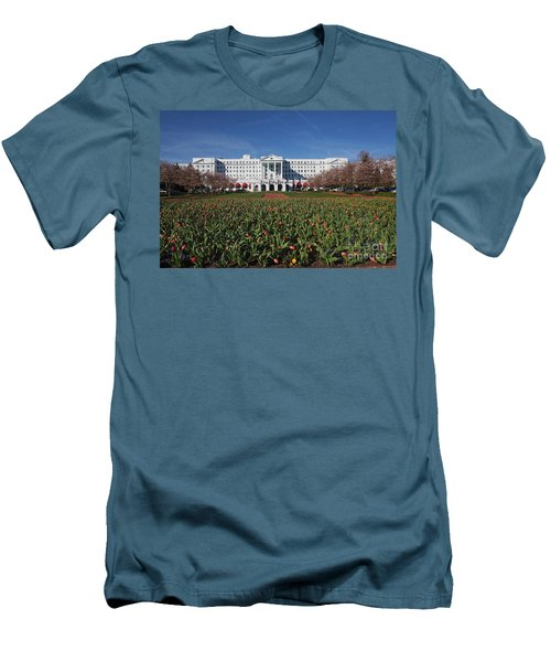 Men's T-Shirt (Slim Fit) featuring the photograph Greenbrier Resort by Laurinda Bowling