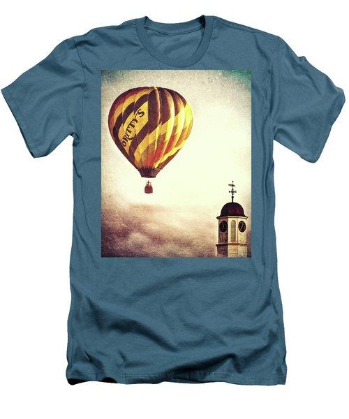 Gritty Mcduffs Hot Air Balloon Men's T-Shirt (Slim Fit) by Bob Orsillo
