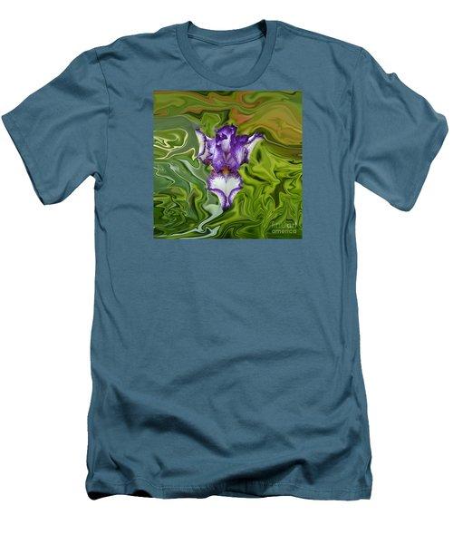 Groovy Purple Iris Men's T-Shirt (Athletic Fit)