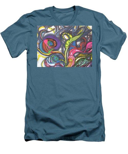 Groovy Series Men's T-Shirt (Slim Fit) by Chrisann Ellis