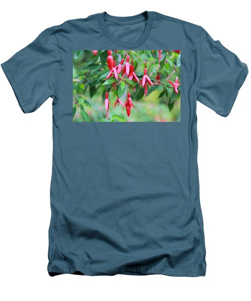 Men's T-Shirt (Slim Fit) featuring the photograph Growing In Red And Purple by Laddie Halupa
