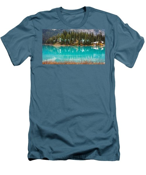 Men's T-Shirt (Slim Fit) featuring the photograph Emerald Lake by Pierre Leclerc Photography