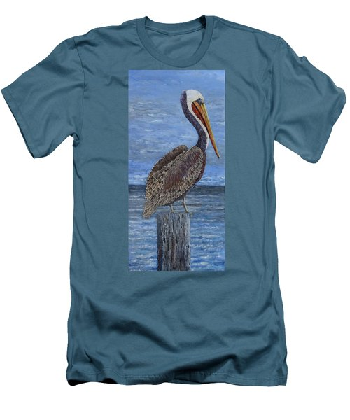 Gulf Coast Brown Pelican Men's T-Shirt (Athletic Fit)