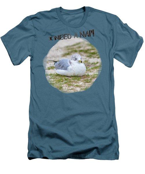 Gull Nap Time Men's T-Shirt (Slim Fit) by John M Bailey