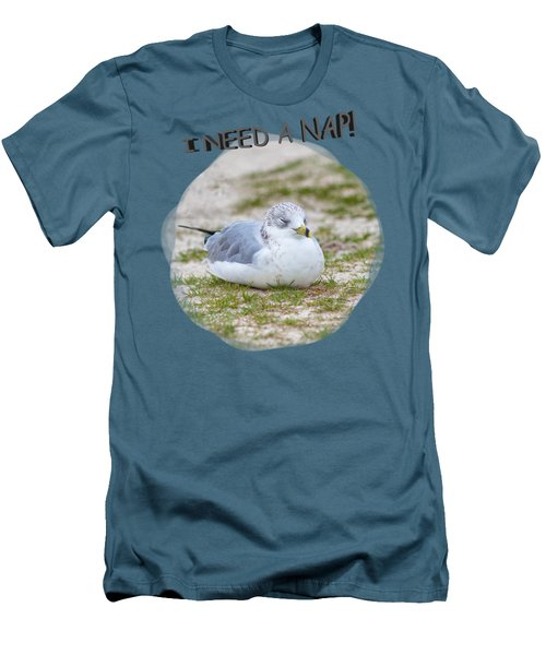 Gull Nap Time Men's T-Shirt (Athletic Fit)