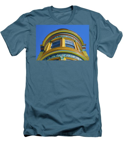 Haight Ashbury Painted Victorian Men's T-Shirt (Athletic Fit)