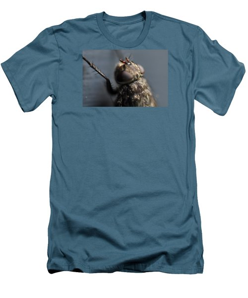 Men's T-Shirt (Slim Fit) featuring the photograph Hair On A Fly by Glenn Gordon