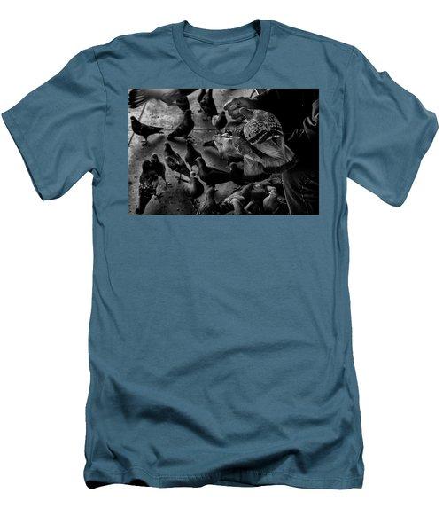 Hand Feeding Men's T-Shirt (Slim Fit) by James David Phenicie