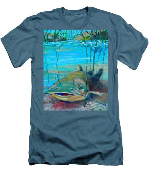 Happy Catfish Men's T-Shirt (Slim Fit) by Jeanette Jarmon