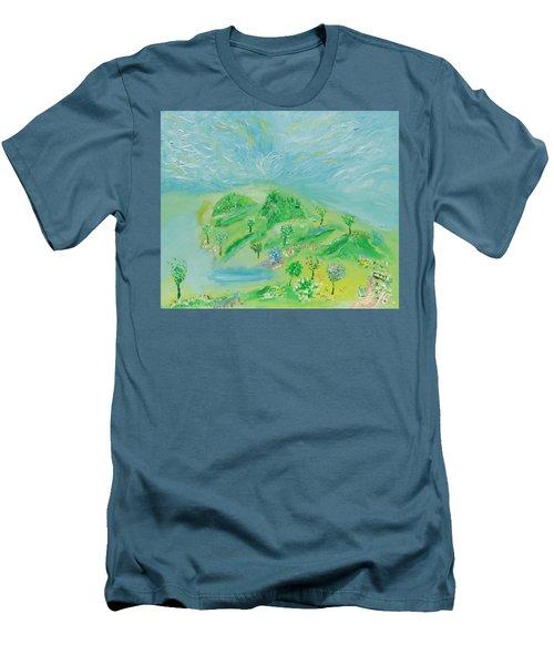 Happy Days. Landscape Men's T-Shirt (Athletic Fit)