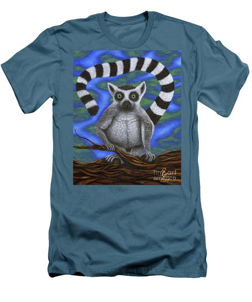 Happy Lemur Men's T-Shirt (Athletic Fit)