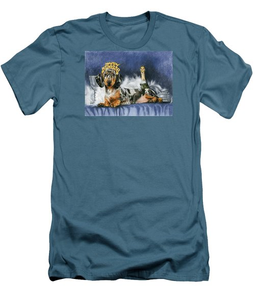Men's T-Shirt (Slim Fit) featuring the mixed media Happy New Year by Barbara Keith