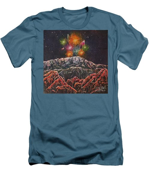 Happy New Year From America's Mountain Men's T-Shirt (Athletic Fit)