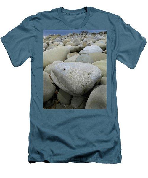 Happy Rock Men's T-Shirt (Slim Fit) by Joe  Palermo