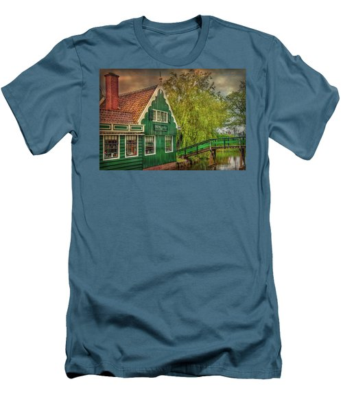 Men's T-Shirt (Athletic Fit) featuring the photograph Haremakerij At The Brook by Hanny Heim