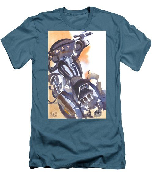 Men's T-Shirt (Slim Fit) featuring the painting Motorcycle Iv by Kip DeVore