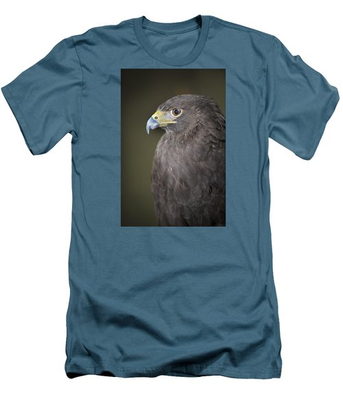 Men's T-Shirt (Slim Fit) featuring the photograph Harris Hawk by Tyson and Kathy Smith