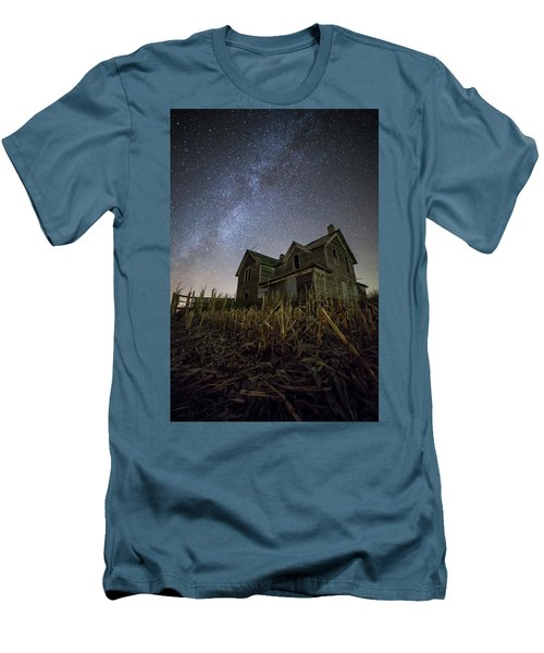 Men's T-Shirt (Slim Fit) featuring the photograph Harvested  by Aaron J Groen