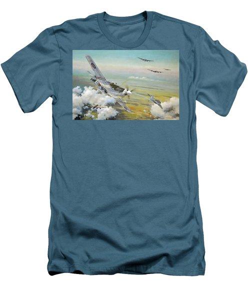 Haslope's Komet Men's T-Shirt (Slim Fit) by Colin Parker