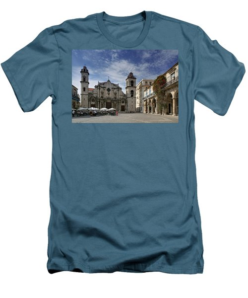 Havana Cathedral. Cuba Men's T-Shirt (Athletic Fit)
