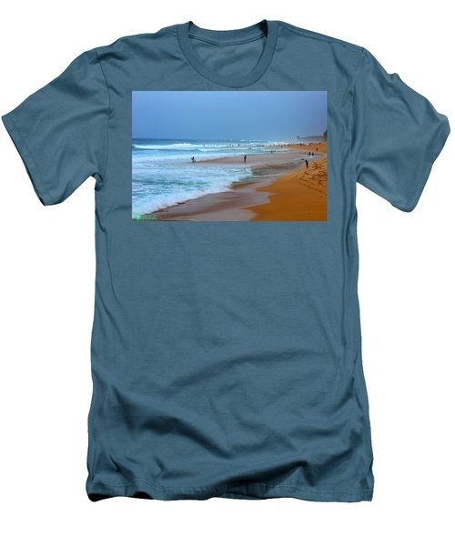 Hawaii - Sunset Beach Men's T-Shirt (Slim Fit) by Michael Rucker