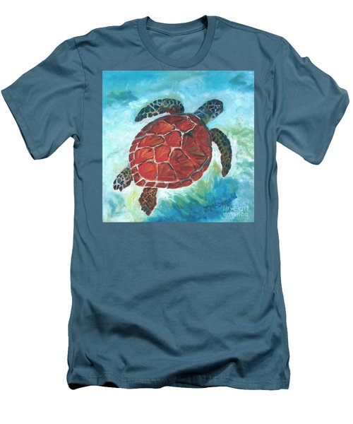Hawaiian Honu Men's T-Shirt (Athletic Fit)