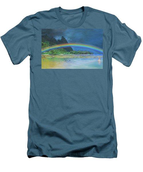 Hawaiian Rainbow Men's T-Shirt (Athletic Fit)