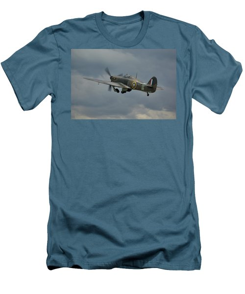 Hawker Hurricane Mk Xii  Men's T-Shirt (Slim Fit) by Tim Beach