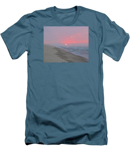 Men's T-Shirt (Slim Fit) featuring the photograph Hazy Sunrise by  Newwwman