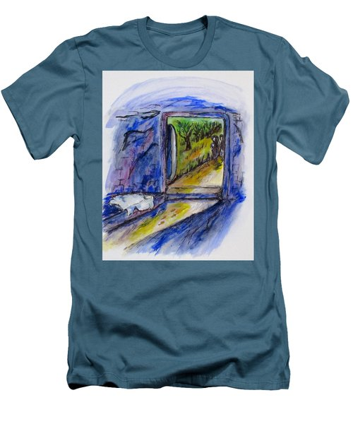 He Is Gone Men's T-Shirt (Slim Fit) by Clyde J Kell