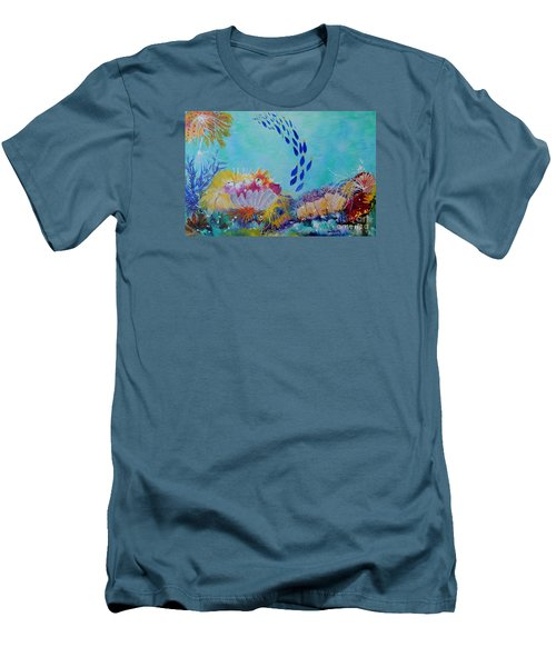 Heading For The Coral Men's T-Shirt (Athletic Fit)