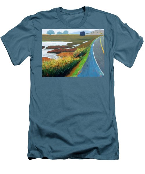 Men's T-Shirt (Slim Fit) featuring the painting Heading North by Gary Coleman