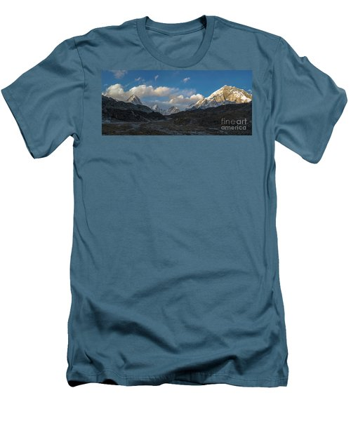 Men's T-Shirt (Slim Fit) featuring the photograph Heading To Everest Base Camp by Mike Reid