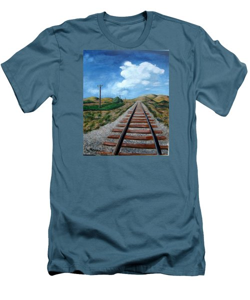 Heading West Men's T-Shirt (Slim Fit) by Laurie Morgan