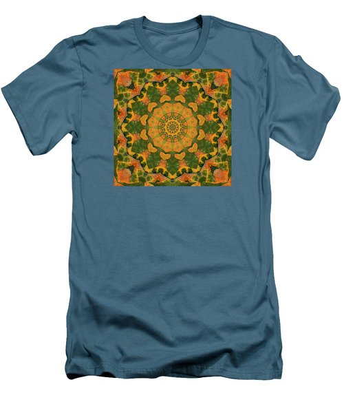 Men's T-Shirt (Slim Fit) featuring the photograph Healing Mandala 9 by Bell And Todd