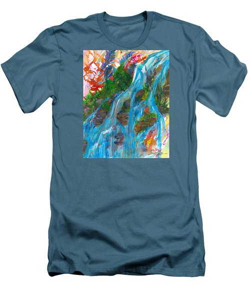Healing Waters Men's T-Shirt (Slim Fit) by Denise Hoag