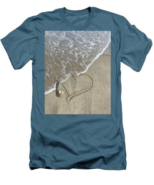 Heart Lost Men's T-Shirt (Slim Fit) by Arlene Carmel