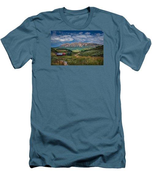 Heartland Of The Colorado Rockies Men's T-Shirt (Slim Fit) by Michael J Bauer