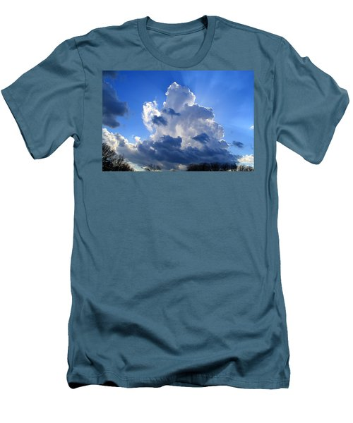 Men's T-Shirt (Slim Fit) featuring the photograph Heavenly Sunlight by Kathryn Meyer