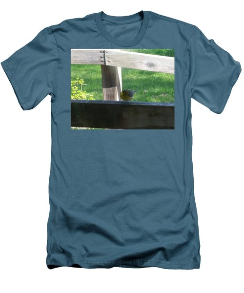 Men's T-Shirt (Slim Fit) featuring the photograph Hello by Wendy Shoults