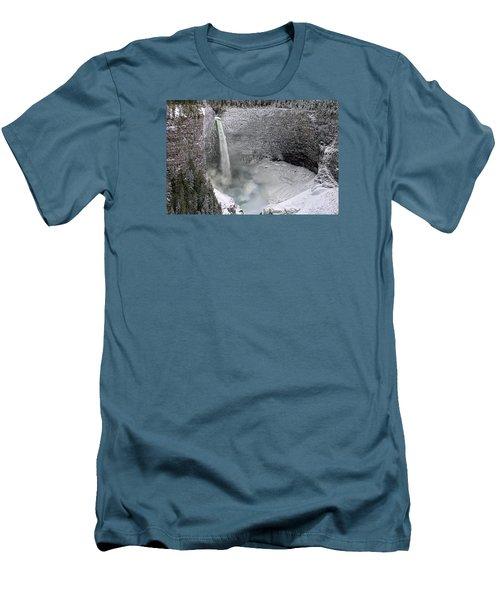 Helmcken Falls Men's T-Shirt (Slim Fit) by Ed Hall