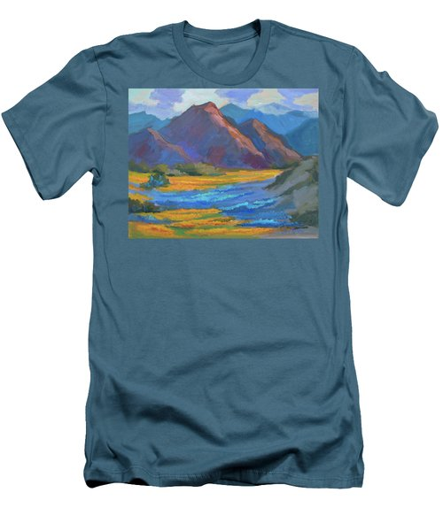 Men's T-Shirt (Slim Fit) featuring the painting Henderson Canyon Borrego Springs by Diane McClary