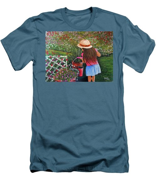 Her Secret Garden Men's T-Shirt (Athletic Fit)