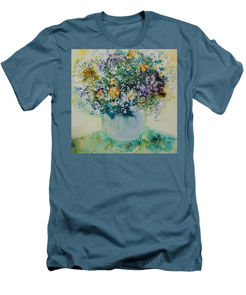 Men's T-Shirt (Slim Fit) featuring the painting Herbal Bouquet by Joanne Smoley