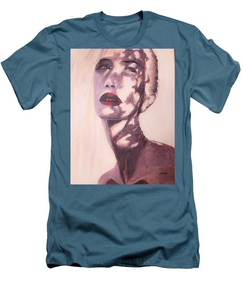 Men's T-Shirt (Athletic Fit) featuring the painting Here Comes The Sun  by Jarko Aka Lui Grande