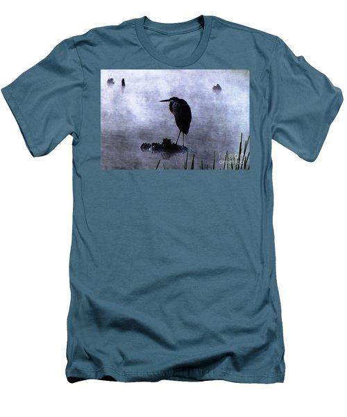 Heron 4 Men's T-Shirt (Slim Fit) by Melissa Stoudt